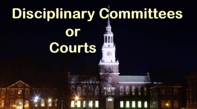 College Disciplinary Committee or Court